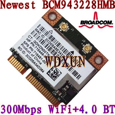 Broadcom Dw1530 Bcm943228hm4l 300m Notebook Wireless N Mini Pcie Half Wifi Card For Dell 300mbps 802.11abgn Internal Module