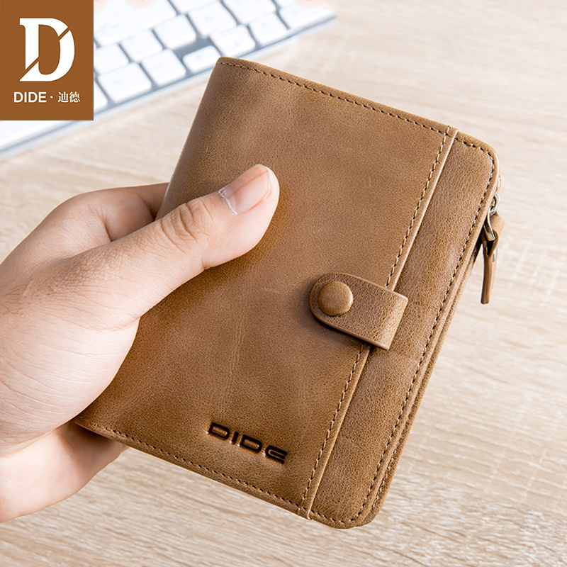 все цены на DIDE Mini Pures Wallet male Coin Purse Short Men Wallets Genuine Leather Men Purse casual Vintage Men Cowhide Wallet 755K онлайн