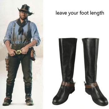 Red Dead Redemption II 2 Arthur Morgan Cosplay Shoes Men Boots
