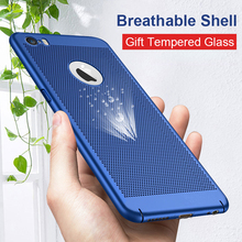 ФОТО phone cases for iphone 5s se cases net heat dissipation breathing thin pc hard cases for iphone 6 6s plus 7 plus 8 plus x gk02