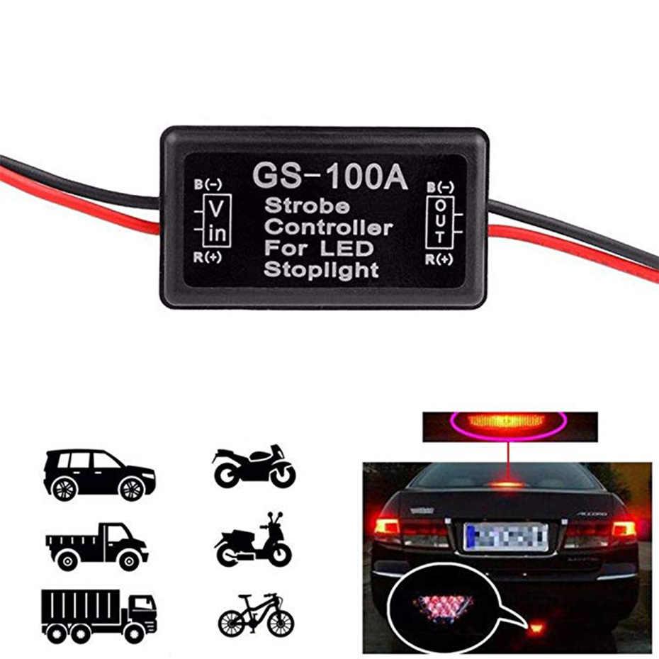 GS-100A Flash Strobo Controller Flasher Modul untuk Mobil LED Lampu Rem Berhenti Lampu 12 V Kawat