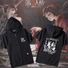 Hot Game Identity V Cosplay Summer Short Sleeve T shirt Tee Tops Men Women Zipper Hooded Casual T shirt Tee Fashion