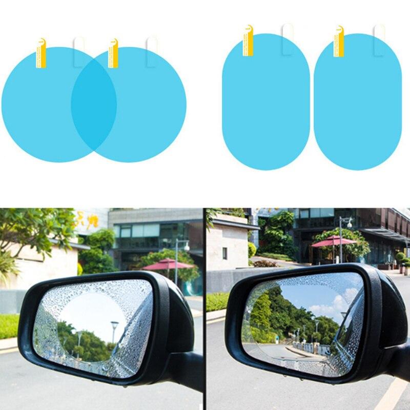 Automobiles & Motorcycles Car Rainproof Rearview Mirror Protective Film Auto Accessories For Fiat Panda Bravo Punto Linea Croma 500 595 Car Tax Disc Holders