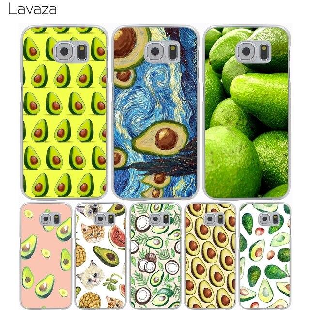 Lavaza Avocado fruit Hard Transparent Cover Case for Samsung Galaxy S7 Edge S6 S8 Edge Plus S5 S4 S3 & Mini S2