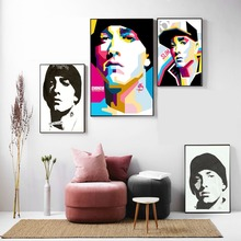 Eminem Pop Portraits Posters and Prints Canvas Art Painting Wall Pictures For Living Room Home Decorative Bedroom No Frame