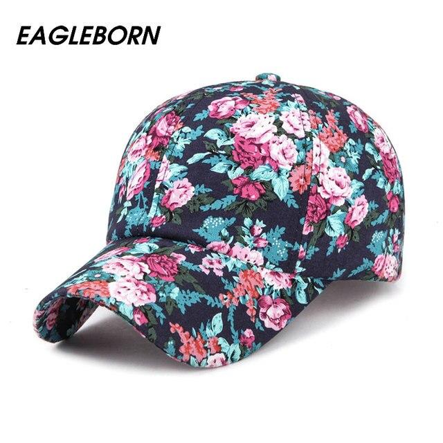2017 eagleborn новая мода цветочные бейсболка женщины шляпы весна cap snapback лето для женщин унисекс регулируемые gorras
