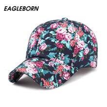 2018 EAGLEBORN nueva moda Floral gorra de béisbol mujeres sombreros  primavera Cap Snapback verano para mujeres Unisex ajustable . fd9cb00adea