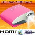 Микро-hdmi AV RCA из светодиодов лампа проектора с USB SD непосредственно играет Projektor встроенный тв-тюнер мобильный портативный Proyector домашнего использования