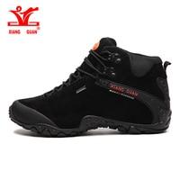 XIANGGUAN 2017 Man High Top Brand Hiking Shoes Outdoor Boots Hiking Trekking Sneakers Natural Leather Mountain