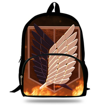 New Arrival Kids School Backpack  Anime Attack On Titan For Teenagers Girls School Bags Boys Daily Backpack Mochila недорго, оригинальная цена