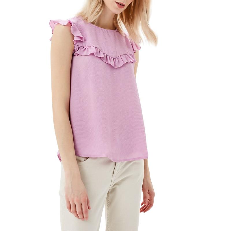 Blouses & Shirts MODIS M181W00382 woman blouse shirt blusas for female TmallFS blouse 0800701 23