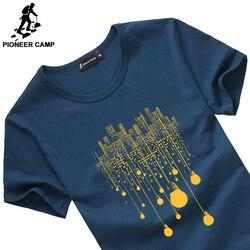 بايونير مخيم الصيف قصيرة t قميص الرجال العلامة التجارية الملابس عالية الجودة القطن الخالص الذكور تي شيرت قميص مطبوع الرجال المحملة قمصان 522056