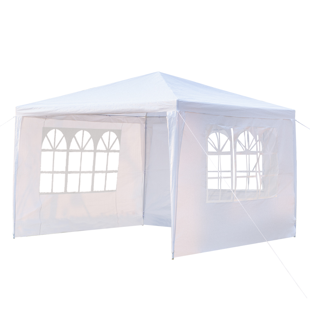 3 x 3m Waterproof Tent with Spiral Tubes White3 x 3m Waterproof Tent with Spiral Tubes White