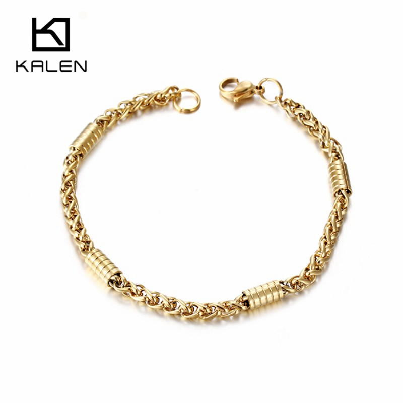 Online Shop KALEN 2017 New Design Women Bracelets Stainless Steel ...