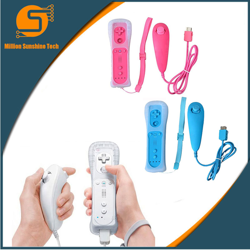 For Nintend Wii Wireless GamePad Remote Controle Without Motion Plus+Nunchuck Controller Joystick For Nintend Wii Accessories