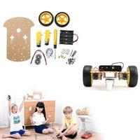 Robôs Chassis Do Carro inteligente DIY Brinquedos Crianças Enigma Brinquedos Bateria Powered Car Kit DIY Educacional Crianças dos miúdos Criança Meninos Presente presente