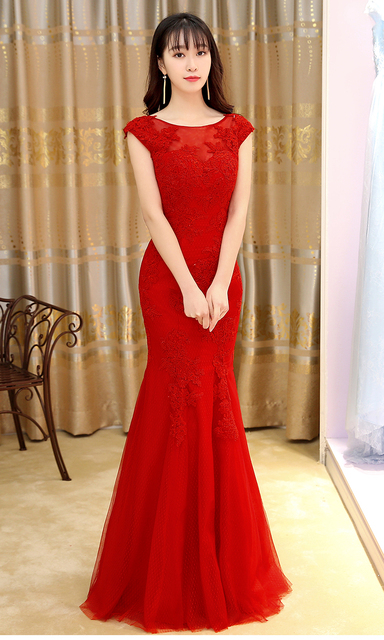 7e4ba84a7c7 free shipping New high-end women s wholesale decals perspective reception Boat  Neck fishtail long section Bridesmaid Dresses
