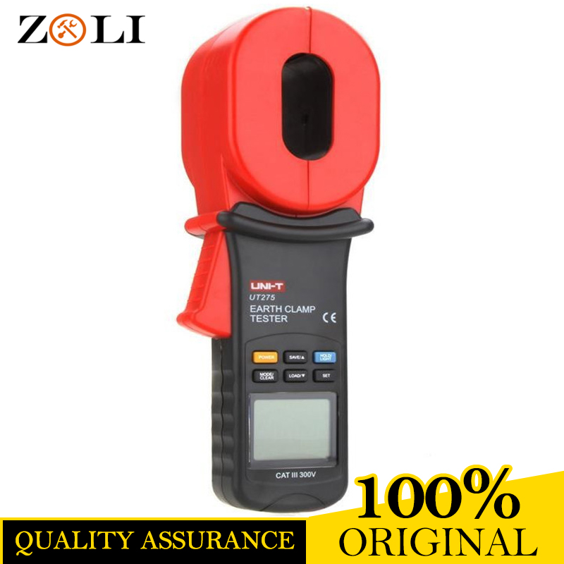 UNI-T UT275 Professional Auto Range Clamp Earth Ground Resistance Testers 0.01-1000ohm w/ 0~30A Leakage Current Tester UT275 uni t ut276a auto range digital clamp earth ground resistance testers megohmmeter clamp meters ohmmeter w rs 232 interface