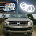 For Volkswagen VW Amarok 2011 2012 2013 2014 headlight Excellent led Angel Eyes Ultrabright smd led Angel Eyes Halo Ring kit