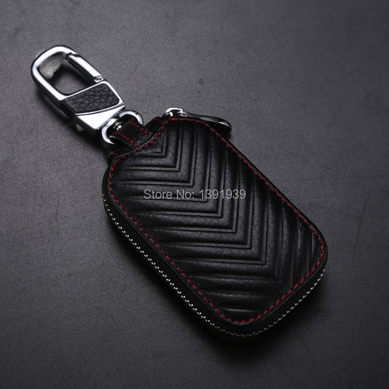 Car key wallet case Genuine Leather for Chrysler Pacifica 300 200 S 300C Ypsilon Delta free shipping in Key Case for Car from Automobiles Motorcycles