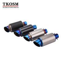 TKOSM 60MM Universal Motorcycle Exhaust Pipe Modified Scooter Exhaust Muffler Fit For Z800 CBR1000 T Max