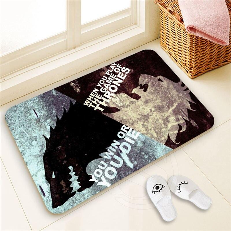 H-P308 Custom game of thrones #2 Doormat Home Decor 100% Polyester Pattern Door mat Floor Mat foot pad SQ00722-@H0308
