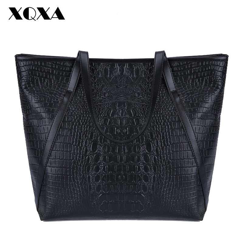 XQXA Black Casual Women Shoulder Bags PU Female Big Tote Bags for Ladies Handbag Large Capacity sac a main femme de marque eemrke for nissan qashqai j10 2006 2013 led angel eye halogen bulbs h11 55w fog lamp drl daytime running lights