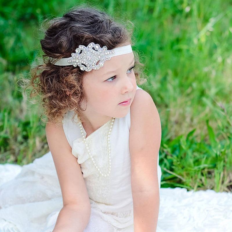 New kids Bling Strass Fascia per i bambini Accessori Dei Capelli della  neonata Battesimo Della Fascia dei bambini della fascia 5 pz 738042b945a3