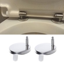 2Pcs Top Fix WC Toilet Seat Hinges Fittings Quick Release Hinge Screw(China)