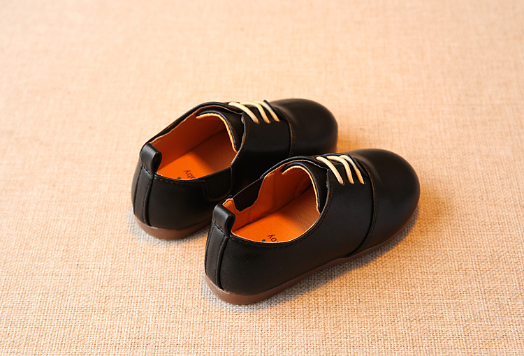 Spring Children Casual Shoes Baby Boys England Style Leather Shoes Girls Soft Bottom Shoes Kids Flats High Quality Sneakers C243 7