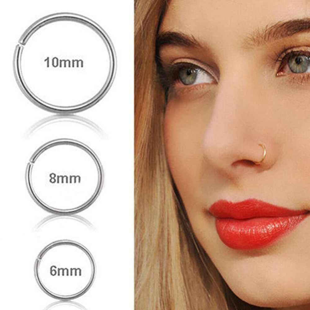 1pcs New Arrival Stainless Steel Nose Ring Rings Fake Septum