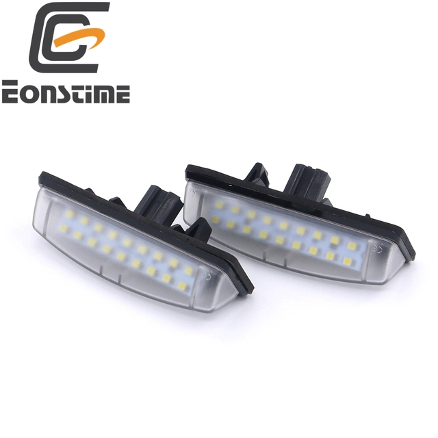 Eonstime 2pc 6000K LED License Plate Lamp Light for TOYOTA Camry/Aurion Avensis Verso Echo PRIUS Previa-ACR50 Lexus IS200/IS300
