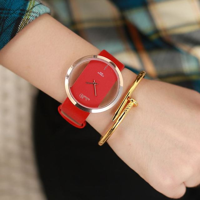 Luxury Antique Stylish Genuine Leather Round Dress Watch