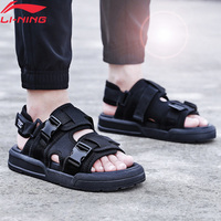 Li Ning Men COCA Outdoor Aqua Shoes Breathable Wearable Beach LiNing Stylish Light Weight Sandals Sneakers AGUP001 SAMJ19
