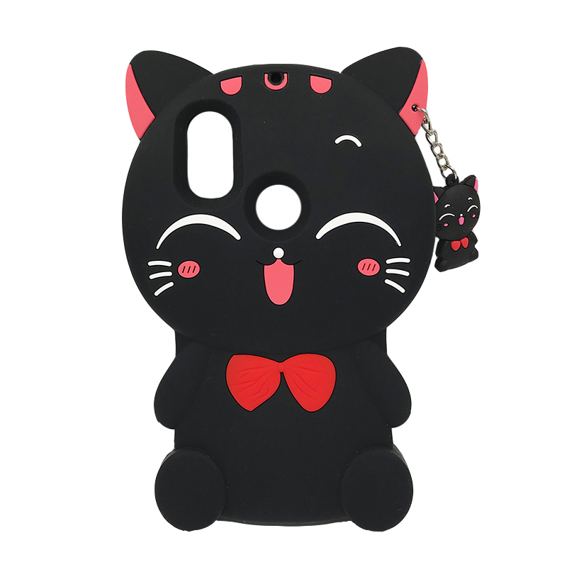 Silicone Case For <font><b>Xiaomi</b></font> <font><b>MI</b></font> A1 <font><b>A2</b></font> Lite <font><b>MiA2</b></font> 6X 5X Phone Case 3D Cartoon Lucky Cat Cover Redmi 6 Pro 6A 5A 4A S2 Note 4 5 image
