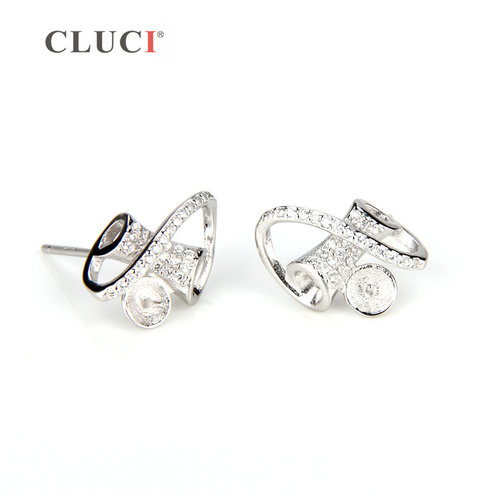 Cluci 925 Sterling Silver Spinning Earrings Ing Stud For Women Fashion Color Party Wedding Jewelry Dropship In From