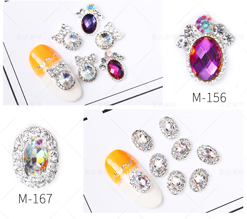3D diamond nail art Diamond dressing Big drill Plain bottom nail crystals nail Ornamental jewel rhinestones for nails