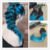 Brillo completo 2016 New Super Thin Invisible Inconsútil Cinta Clip en Extensiones de cabello Color # 1B Desapareciendo a Teal 9 Unids Pu Clip Ins
