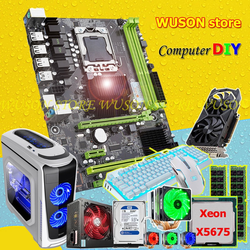 קנו רכיבי מחשב | HUANANZHI motherboard bundle discount X58