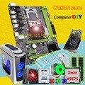 HUANANZHI X58 PRO motherboard bundle CPU Xeon X5675 with cooler RAM 16G RECC 500Watt PSU GTX1050Ti video card 1TB SATA3.0 HDD