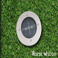 Waterproof Solar Light LED Round Underground Garden Yard Road Lawn Path Lamp