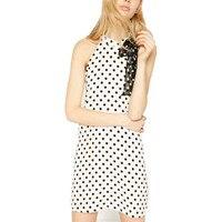 New European Off The Shoulder Summer Dress Sleeveless Polka Dot Cute Loose Lady Lace Dress Slim