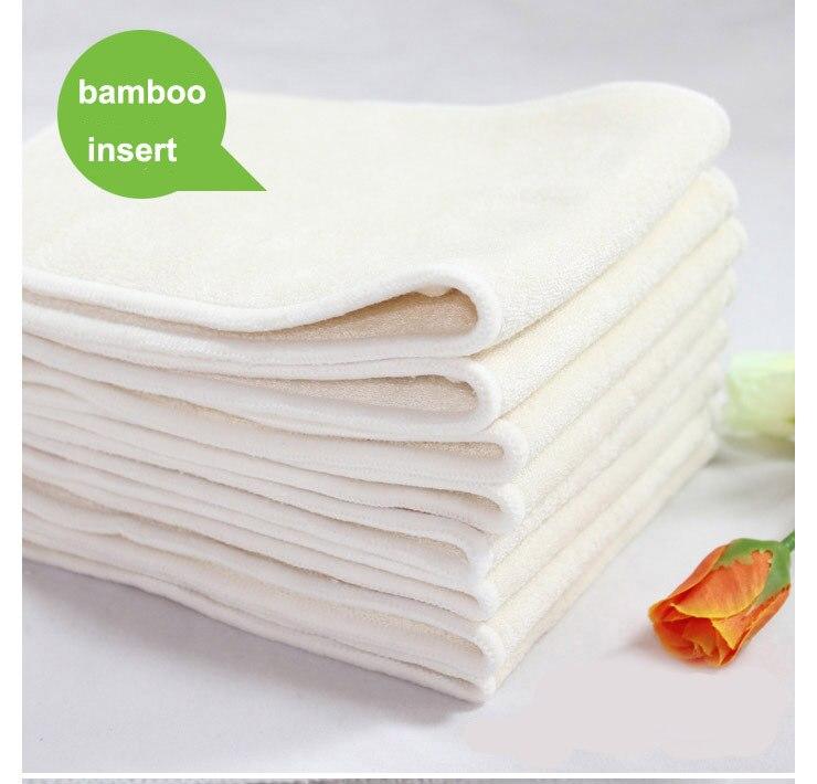 Лидер продаж 100 шт./лот четыре слоя натурального бамбука вставки для ткань пеленки мягче коснуться более высокую впитываемость