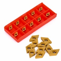 10pcs Lot DCMT070204 YBC251 Carbide Inserts High Quality Insert With Box For Lathe Turning Tools