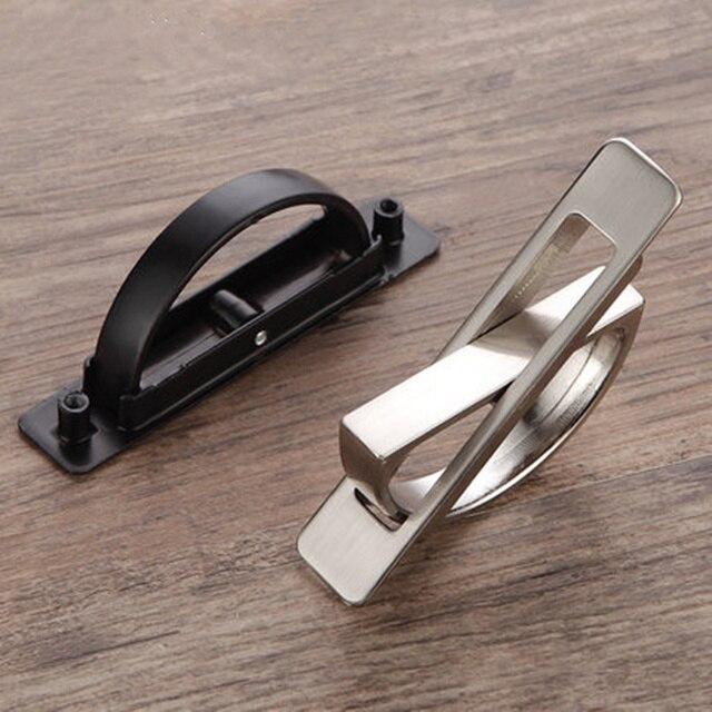 Hot sale Rotating Invisible handle Tatami Wardrobe Drawer pulls door knobs for cabinet Hidden Handle Furniture Hardware