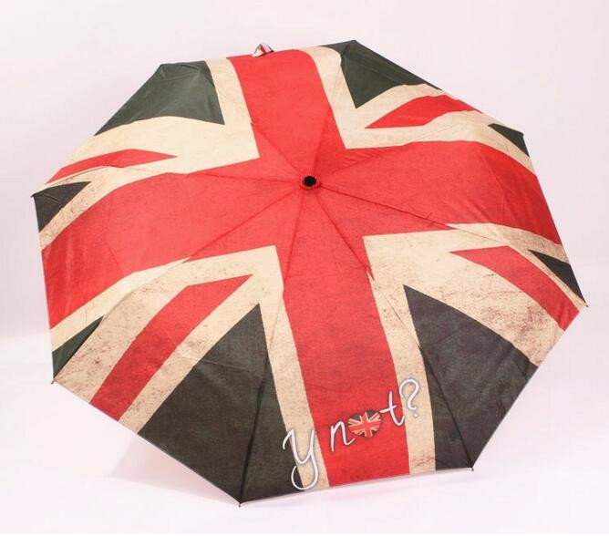 f1ecf4cf85052 wholesale vintage American   British   Italy   Norway flag automatic high  quality umbrella 3 folding automatic rain sun paraguas - us440