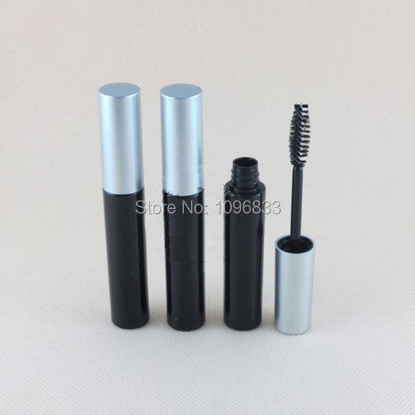 cf1add2ec41 10G 10ML Empty Black Mascara Tube Silver Cap Eyelash Revitalash Tubes,  Cosmetic Eyelash Tube Packing Bottle, 50pcs/Lot
