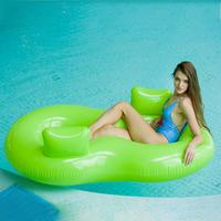 Adult Double Circle Swimming Ring Couple Drifting Seat Personality Water Floating Row Chair High Quality PVC Life Buoy Brand New