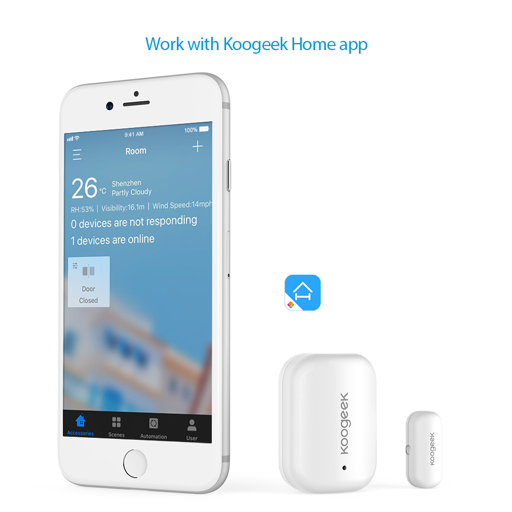 Image 3 - Koogeek Smart Door Window Sensor Wireless Home APP Remote Access  Automatic Trigger For Apple HomeKit Home Security Alarm Systemtrigger  sensor