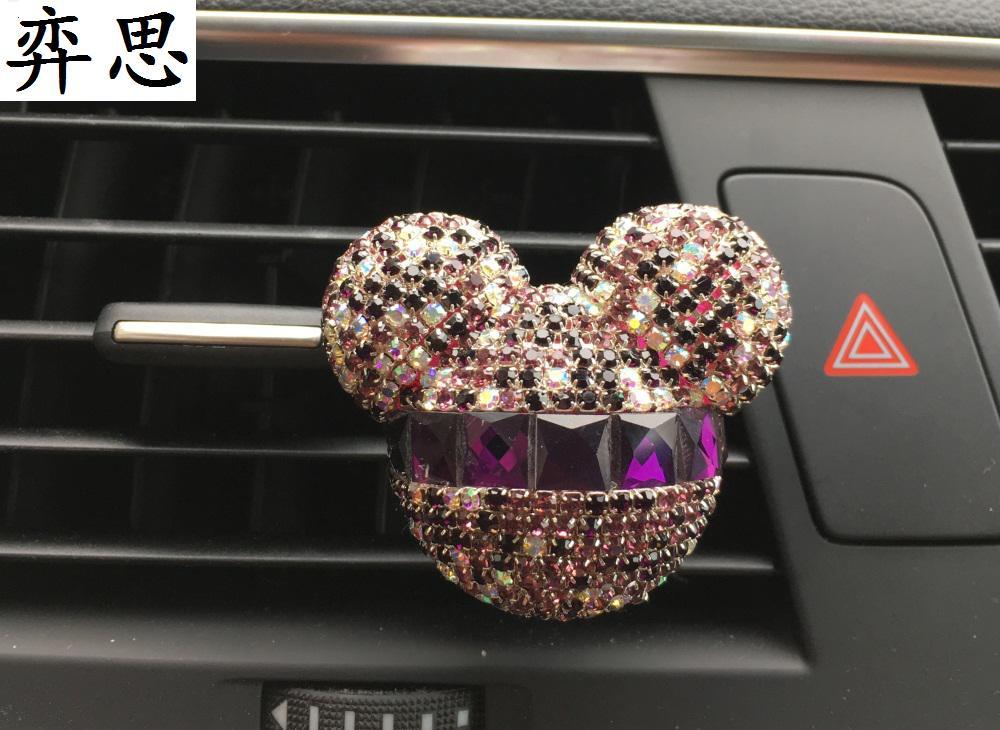 새로운 다이아몬드 부인 자동차 공기 출구 향수 - 자동차 인테리어 용 액세서리 - 사진 1